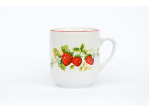 hrnek trojka cesky porcelan jahody