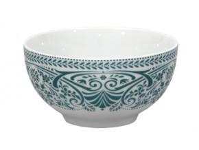 miska thun porcelan modrozelena krajka