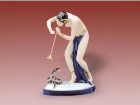 tanecnice s hadem porcelan dux 22 cm