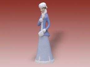 zima figurka dux pastel porcelan