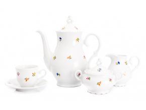 Kávová souprava, karlovarský porcelán, Stará Role, Ofélie, házenka