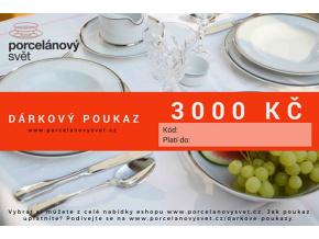 Poukaz 3000 Kč