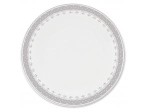 HyggeLine, talíř mělký, 26 cm, šedá, Leander, český porcelán