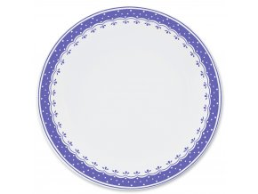 HyggeLine, talíř mělký, 26 cm, modrá, Leander, český porcelán