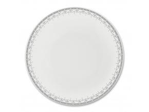 HyggeLine, talíř hluboký, 22 cm, šedá, Leander, český porcelán