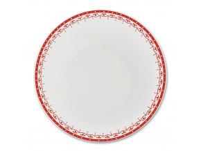 HyggeLine, talíř hluboký, 22 cm, červená, Leander, český porcelán