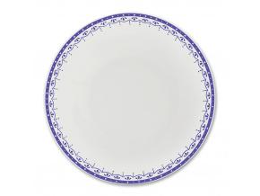 HyggeLine, talíř hluboký, 22 cm, modrá, Leander, český porcelán
