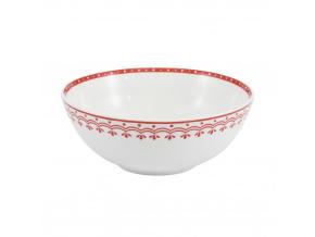 HyggeLine, miska, 16 cm, červená, Leander, český porcelán