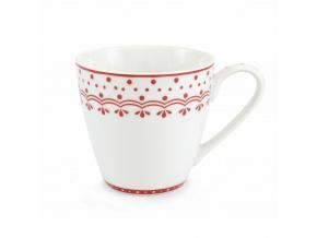 HyggeLine, hrnek, 0,30 l, červená, Leander, český porcelán
