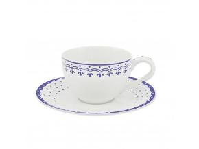 HyggeLine, šálek s podšálkem, 0,20 l, modrá, Leander, český porcelán