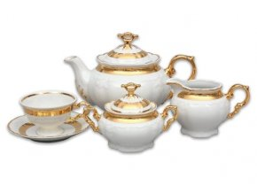 cajova souprava marie louise zlato thun porcelanovy svet