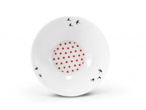 Porcelánová miska, 16 cm, český porcelán, Leander, BeFree, červená
