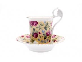 salek na kavu misen ruze na zlute leander porcelanovy svet