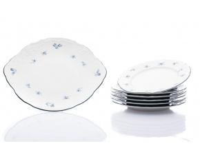 koláčová souprava bernadotte modré růžičky thun porcelanovy svet