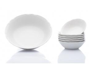 Constance, kompotová souprava, bílá, porcelán Thun, 7 d.