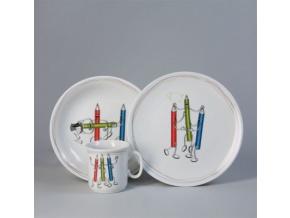 Pastelky, dětská porcelánová souprava, Thun