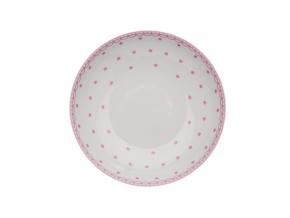 talíř hluboký tom růžové puntíky thun porcelanovy svet