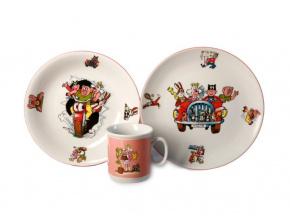 Čtyřlístek, dětská porcelánová souprava (růžová), Thun
