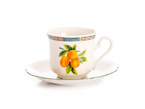 Mary-Anne, šálek kávový s podšálkem, ovoce, slon. kost