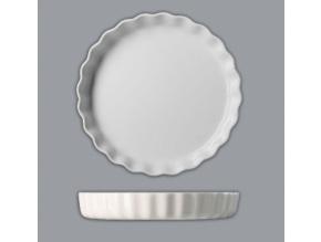 Zapékací koláčová mísa kulatá, bílá, 30 cm, Thun