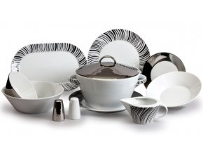 jidelni souprava český porcelán tom kovový efekt thun 25 d.