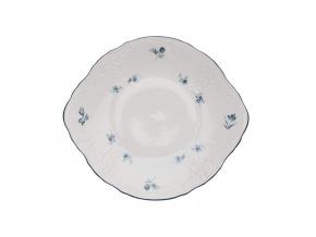 talíř na koláč bernadotte modré růžičky thun porcelanovy svet