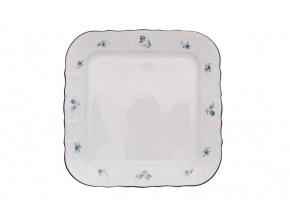 podnos čtyřhranný 26 bernadotte modré růžičky thun porcelanovy svet