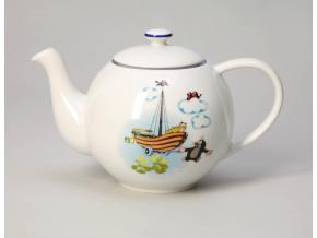 Krteček s loďkou, konvice čajová
