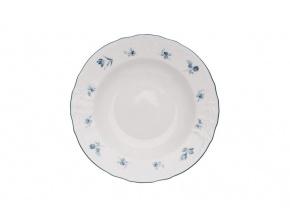 talíř hluboký bernadotte modré růžičky thun porcelanovy svet