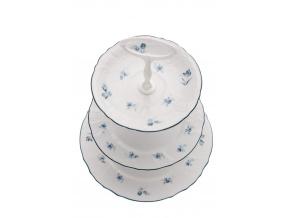 etažér bernadotte modré růžičky thun porcelanovy svet