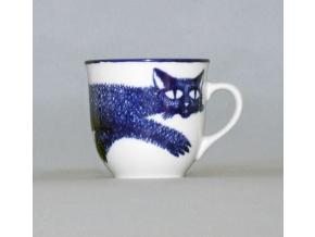 Hrnek Mirek, kočka, design M. Oliva, Český porcelán Dubí