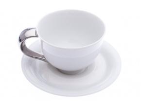 Kelt, šálek s podšálkem 0,2 l, bílý, platina, Rudolf Kämpf
