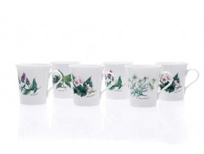sada hrnků ema květy bylinek dubí porcelanovy svet