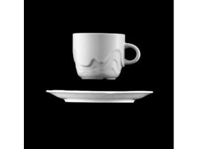 Melodie, šálek s podšálkem, bílý 19 cl, G. Benedikt