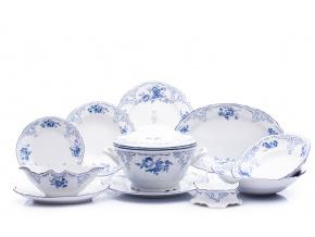 jidelni souprava bernadotte modre kvety porcelan thun porcelanovy svet