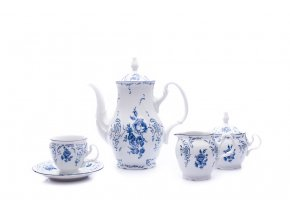kavova souprava bernadotte modre kvety porcelan thun porcelanovy svet