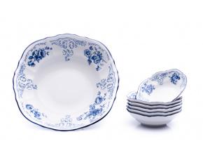 kompotova souprava bernadotte modre kvety porcelan thun porcelanovy svet