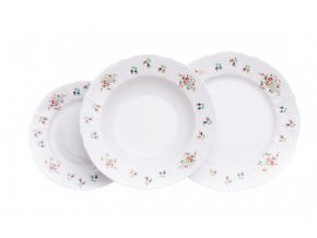 talirova souprava Bernadotte pestrobarevne kvety thun cesky porcelan