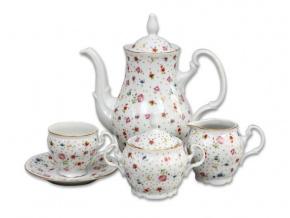 kavova souprava bernadotte lucni kvety zlato porcelan thun