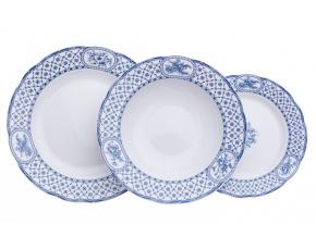 Rose, talířová souprava, modrá stuha, Thun