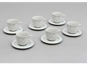 Opal, šálky a podšálky čajové, klásky, Thun, 6 ks