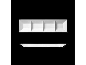 Actual, podnos čtyřhranný, dělený, 47x12, Suisse Langenthal