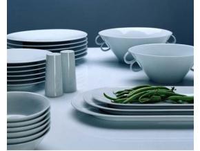 Bohemia White, jídelní souprava, bílá, Český porcelán Dubí