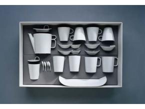 Bohemia White, čajová souprava, bílá, Český porcelán Dubí