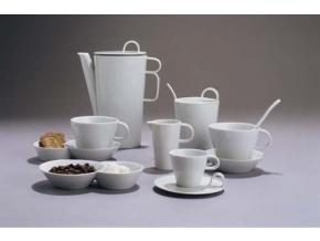 Bohemia White, kávová souprava, bílá, Český porcelán Dubí