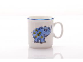Dětský hrnek, modrý sloník, 0,22 l, Český porcelán