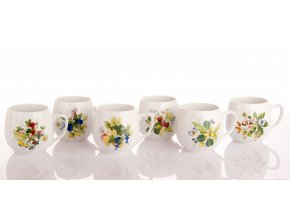 sada hrnku banak lesni plody český porcelan porcelanovy svet
