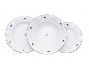 retro talirova sada benedikt modre kyticky cesky porcelan porcelanovy svet