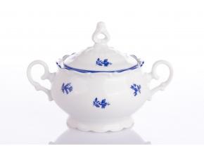 Ophelia, cukřenka, 0,24 l, modrá házenka, porcelán Thun RZ