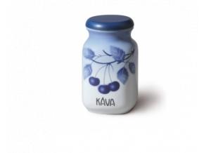 porcelanova doza 1 l kava modre tresně porcelan thun